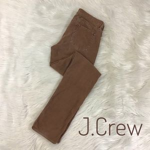 J.Crew Skinny Leg Corduroy 26R Brown City Fit Pant